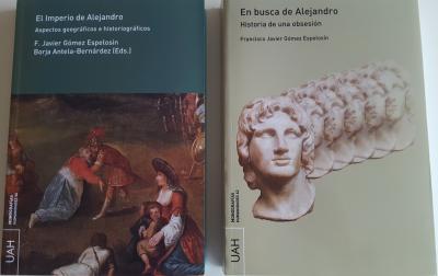"""Portadas de """"El Imperio de Alejandro"""" y """"En busca de Alejandro"""""""