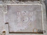 Mosaico de la Metamorfosis, en el cubículum. Foto: PAC