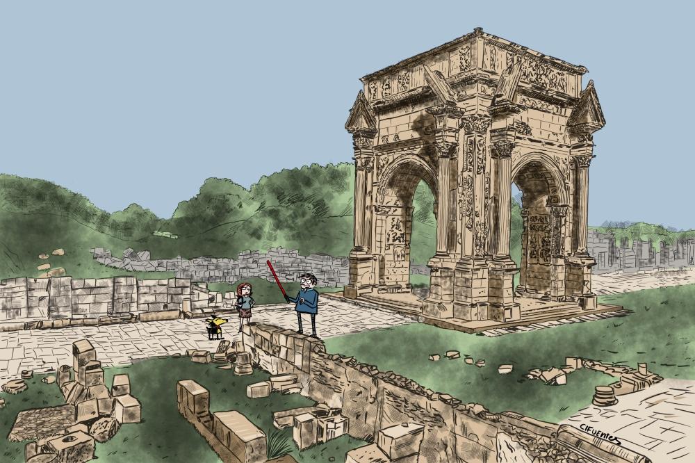Tetrapylon de Leptis Magna