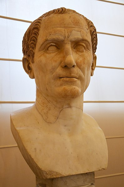 Busto de Julio César. Museo Arqueológico de Nápoles